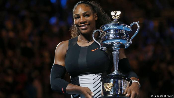 Tennis-Spielerin Serena Williams 2017 Australian Open in Melbourne