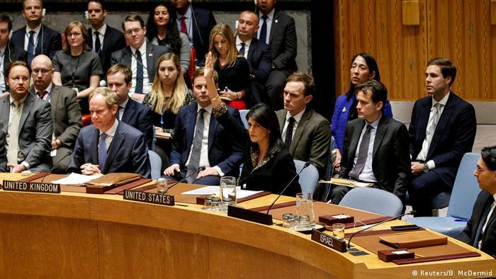 UN-Sicherheitsrat in New York zu Situation in Nahost | Veto USA (Reuters/B. McDermid)