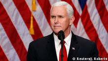 USA Vize-Präsident Mike Pence in Washington (Reuters/J. Roberts)