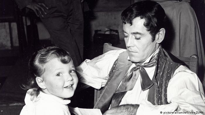 Die vierjährige Jane Fonda und ihr Vater Henry Fonda