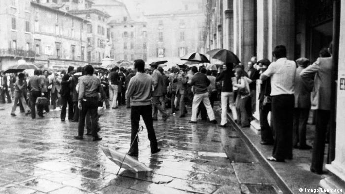 The aftermath of the terror attack in Piazza della Loggia in 1974