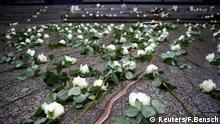 The flowers are seen at the memorial at the site of last year's truck attack in a Christmas market, which killed 12 people and injured many others, at Breitscheidplatz square in Berlin, Germany December 19, 2017. REUTERS/Fabrizio Bensch