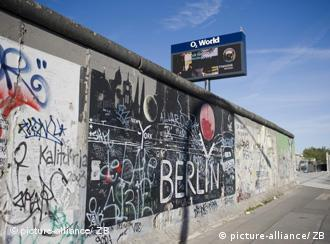The creative face of the remnants of the Berlin Wall