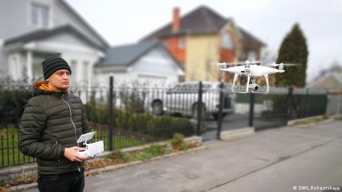Ukraine, Kiew, Antikorruptionskampf mit Hilfe von Drohnen (DW/L.Rzheutskaja)