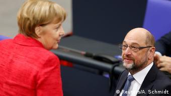 Angela Merkel and Martin Schulz (Reuters/A. Schmidt)