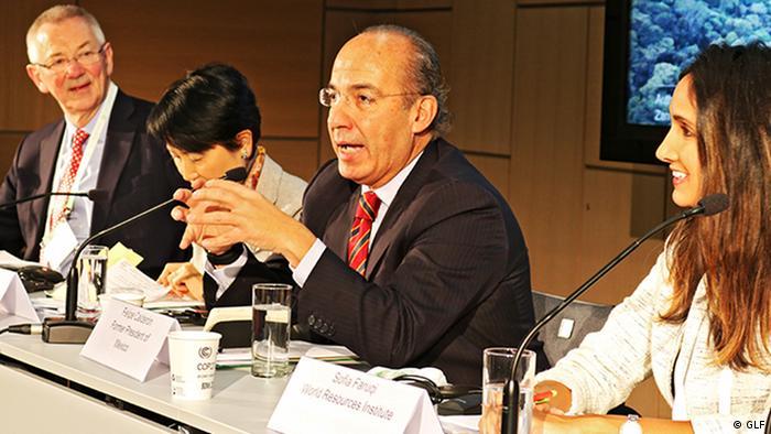 Felipe Calderón, ehem. Präsident Mexikos, beim Global Landscape Forum, Bonn