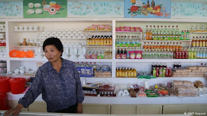 Nordkorea, Geschäft in der Nähe eines Bauernhofs auf Genossenschaftsbasis in Hamhung (DW/P.Depont)