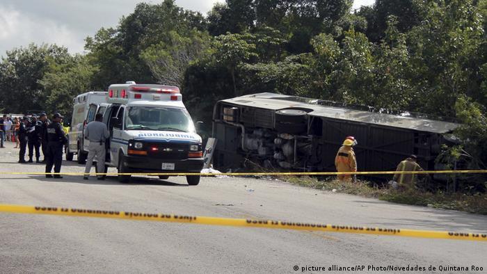 Busunfall in Mexiko
