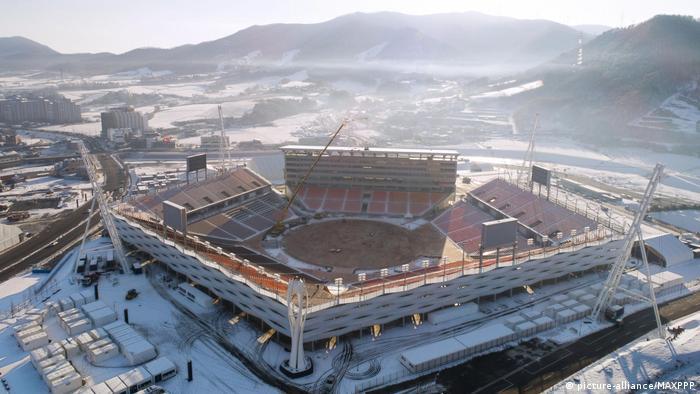Südkorea Pyeongchang Olympiastadion (picture-alliance/MAXPPP)