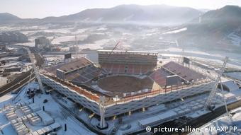Pyeongchang Winter Olympics stadium (picture-alliance/MAXPPP)