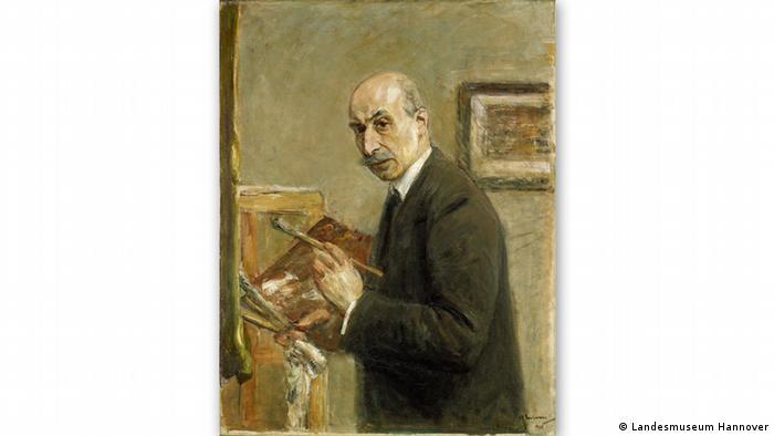 На этом автопортрете 1916 года Макс Либерман запечатлел себя в возрасте 69 лет.