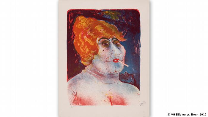 На этой картине Отто Дикс изобразил сводницу.