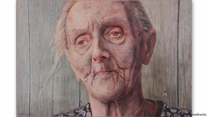 Так Вольфганг Тиманн (Wolfgang Tiemann) изобразил в 1979 году бабушку своей жены Софи Тилкинг (Sophie Thielking).