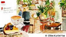 2017 Sketches von Berliner Cafés