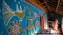 Bangladesch Alpona-Dorf in Chapainawabganj