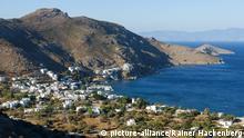 Griechenland, Insel Tilos, Hafenort Livadia | Verwendung weltweit