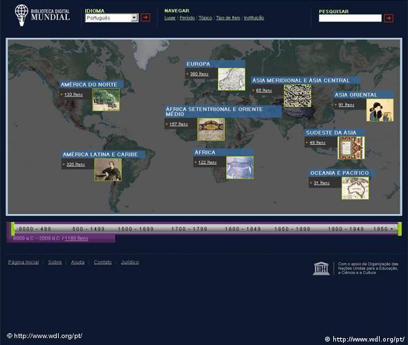 Sreenshot World Digital Library