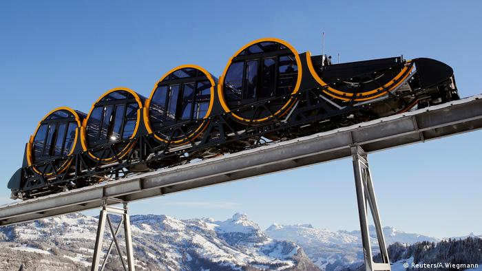 Stoos funicular, the steepest in the world