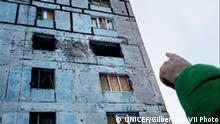 Kinder bedroht von Minen Ostukraine