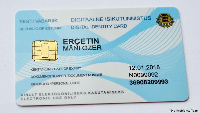 Estland elektronische Aufenthaltskarte