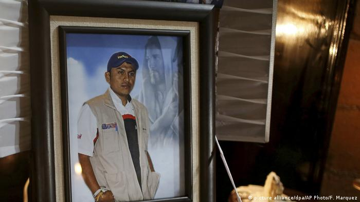 Mexiko Journalist Gumaro Perez ermordet (picture alliance/dpa/AP Photo/F. Marquez)