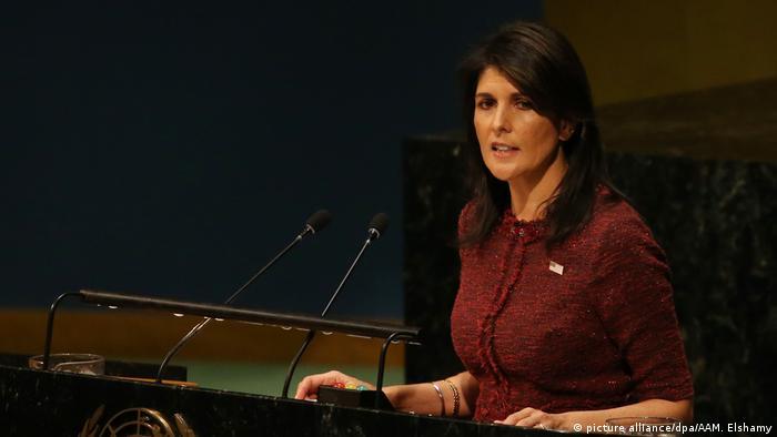 USA UN Botschafterin der USA Nikki Haley