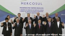 Brasilien Gruppenbild Mercosur und Associated States Summit of Heads of State