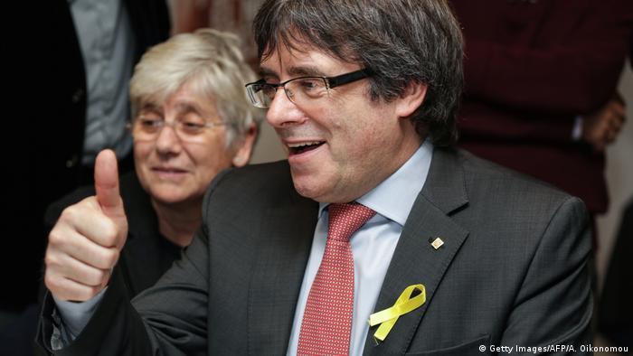 Katalonien Wahlen 2017 - Puigdemont in Brüssel