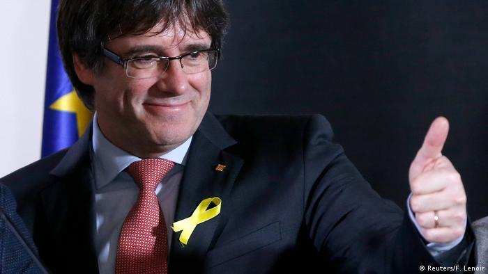 Katalonien Wahlen 2017 - Mehrheit für Unabhängigkeit - Carles Puigdemont in Belgien (Reuters/F. Lenoir)