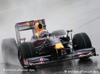 German Formula One driver Sebastian Vettel of Red Bull leads the pack after the start of the Grand Prix of China at the Shanghai International Circuit during the Formula 1 Grand Prix at the Shanghai International Circuit