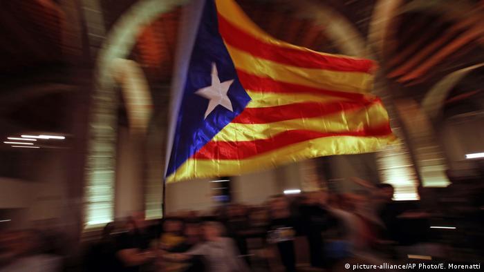Spanien Fohne von Katalonien