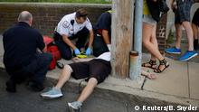 Cataldo Ambulance medics and other first responders revive a 32-year-old man who was found unresponsive and not breathing after an opioid overdose on a sidewalk in the Boston suburb of Everett, Massachusetts, U.S., August 23, 2017. REUTERS/Brian Snyder SEARCH SNYDER OPIOIDS FOR THIS STORY. SEARCH WIDER IMAGE FOR ALL STORIES. TPX IMAGES OF THE DAY.