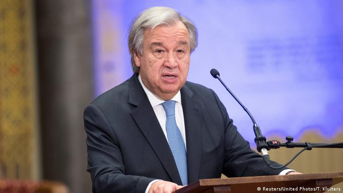 Photo of Antonio Guterres making a speech