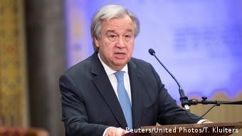Den Haag Schlusszeremonie des UN-Kriegsverbrechertribunals für Ex-Jugoslawien   UN-GeneralSekretär Antonio Guterres