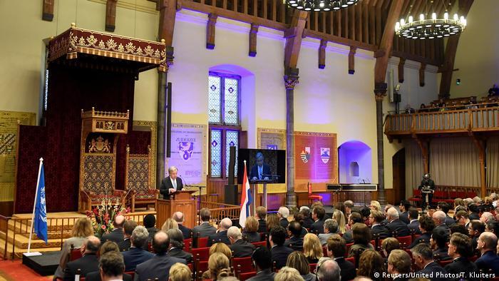 Den Haag Schlusszeremonie des UN-Kriegsverbrechertribunals für Ex-Jugoslawien
