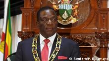 Simbabwe Emmerson Mnangagwa Rede in Harare