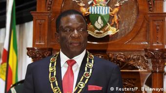 Simbabwe Emmerson Mnangagwa Rede in Harare (Reuters/P. Bulawayo)