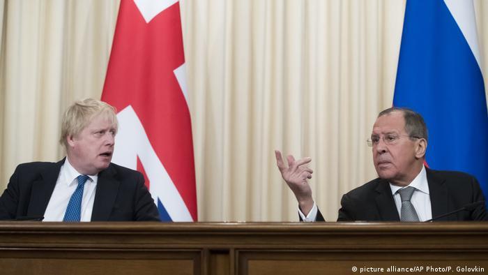 Джонсон и Лавров на пресс-конференции в Москве