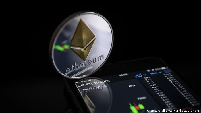 Ethereum digital currency (picture-alliance/NurPhoto/J. Arriens)