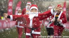 Weihnachtlicher Spendenlauf in London