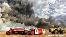 Dez. 2017 +++ Feuer in der Meghan-Wüste in Arak.