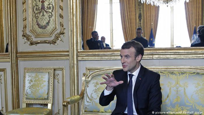 French President Emmanuel Macron (picture-alliance/AP Photo/Y. Valat)