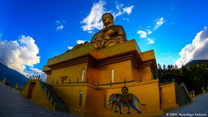 Great Buddha Dordenma is a gigantic Shakyamuni Buddha statue in the mountains of Bhutan celebrating the 60th anniversary of fourth king Jigme Singye Wangchuck