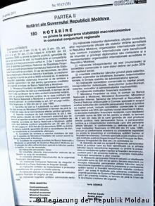 Republik Moldau Beschluss der moldauischen Regierung zur Rettung von drei Banken (Regierung der Republik Moldau )