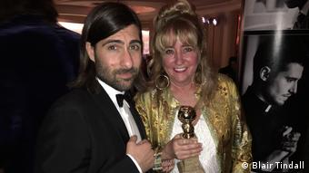 Blair Tindall and Jason Schwartzman