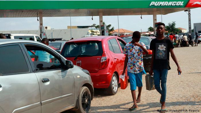 Angola Ölknappheit