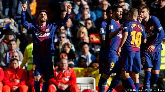 Spanien Madrid CF vs FC Barcelona   Messi