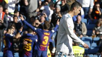 Spanien Madrid CF vs FC Barcelona | Ronaldo (picture alliance/AP Photo/P. White)