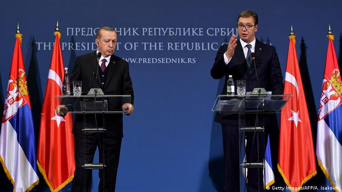 Serbien Türkei - Erdogan und Vucic (Getty Images/AFP/A. Isakovic)
