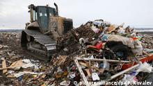 Russland Mülldeponie bei Sankt Petersburg
